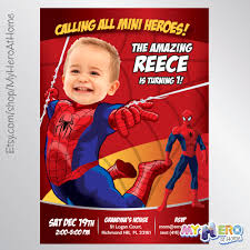 First Birthday Invitation Cards For Boys Baby Spiderman Invitation With Your Little Boy As Spiderman