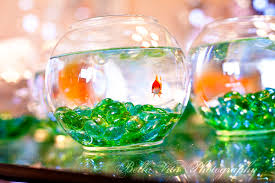 fish bowl centerpieces creative centerpieces one fishbowl six different uses wedding