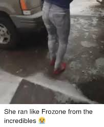 The Incredibles Memes - she ran like frozone from the incredibles frozone meme on