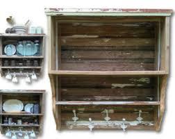 White Bathroom Shelf With Hooks by Shelf Storage Etsy