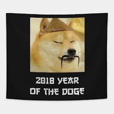 The Doge Meme - funny year of the doge meme chinese calendar 2018 meme tapestry