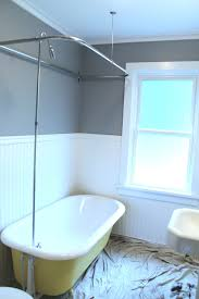 Small Bathroom Designs With Tub Bathroom Wainscoting Panels With Clawfoot Tub Shower Kit For