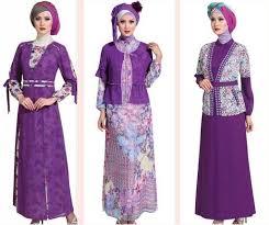 model baju muslim modern contoh model baju muslim modern 2015 4 tema ungu motif polos jpg