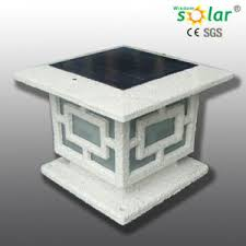 Solar Lights Fence - china aluminum solar gate post pillar light solar light fence