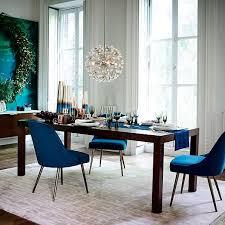 MidCentury Upholstered Dining Chair Velvet West Elm - West elm dining room chairs