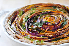 vegetarian thanksgiving entrees vegan spiral vegetable tart the colorful kitchen
