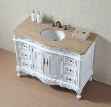 Marble Sink Vanity Stufurhome 48 Inches White Saturn Single Sink Vanity With
