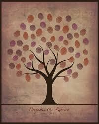 wedding fingerprint guestbook tree printable diy neutral colors