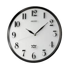 r wave atomic black wall clock qxr131slh