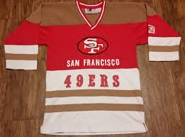 san francisco 49ers starter hockey jersey sweatshirt nfl vintage