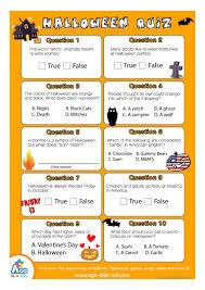 esl halloween quiz worksheet for english class worksheet free