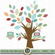 owl and tree clipart owl tree clip