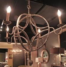 Country Chandelier Winthrop French Country Interlocking Circle Rustic Chandelier