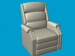 leather recliner chair 3d model 3d studio 3ds max files free