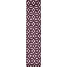 Purple Runner Rugs Unique Loom Geometric Trellis Purple 2 5 Ft X 13 Ft Runner Rug