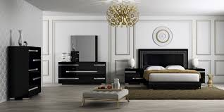Italian Bedroom Sets Volare Modern Black Italian Bedroom Set At Home Usa Furniture