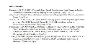 daftar pustaka merupakan format dari submissions e jurnal agroekoteknologi tropika journal of tropical