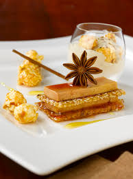 cuisiner du foie gras 02608994 photo foie gras a la normande cappuccino de foie gras tiede sorbet de pommes vertes manzana et pop corn jpg