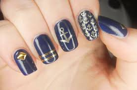 specialgirl nails invogue in the navy swatch and nail art
