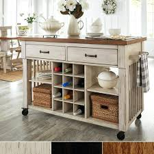 movable kitchen island with breakfast bar two tone rolling kitchen island with wine rack by inspire movable