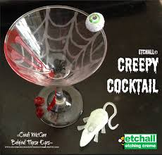 Halloween Craft Project by Diy Creepy Cocktail Etched Halloween Craft Project By Cindi Bisson