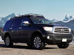 roof rack for toyota sequoia toyota sequoia with sunroof gobi stealth rack for 40 inch led