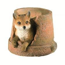 fox garden ornaments for the garden buy animal ornaments uk