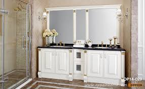 White Gloss Bathroom Furniture Traditional White High Gloss Lacquer Bathroom Cabinet Op14 029