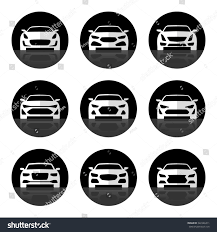 luxury cars logo set car icons front view sports stock illustration 322346411