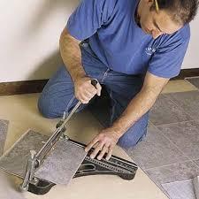 how to cut floor tile
