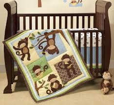Curly Tails Crib Bedding Lambs M Is For Monkey 5 Crib Bedding Set Baby