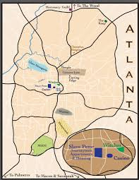 Atlanta Maps by Map Of Post Shift Atlanta Kate Daniels Series By Ilona Andrews