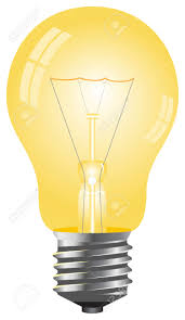 yellow color simple yellow color light bulb vector illustration isolated