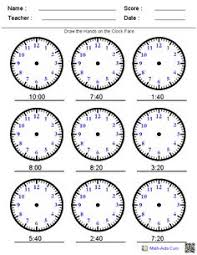 reading analog and digital clocks worksheets math aids com