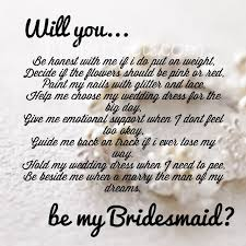 asking bridesmaids poems 28 bridesmaid poems to ask 25 best ideas about bridesmaid