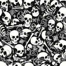 halloween skull background seamless skull and bones wallpaper background stock vector art