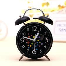 Small Desk Clock Small Desk Clock Alarm Clock Minimal Black Small Copper Desk Clock