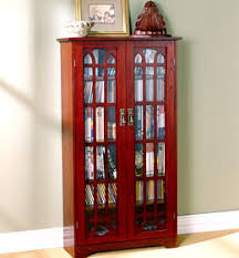 Multimedia Storage Cabinet With Doors Media Storage Cabinets With Wood Or Glass Doors Store Cds Dvds