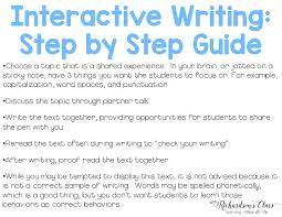 interactive writing in the classroom mrs richardson u0027s class