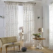 Where To Buy White Curtains Modern Sheer Curtains Birds And Leaf Design Modern Sheer Curtains