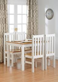 ludlow contrasting oak and white dining set amazon co uk kitchen