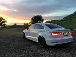 sunset audi four door friday my a3 admiring the sunset audi