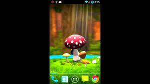 wallpaper 3d mushroom 3d mushroom garden live wallpaper youtube