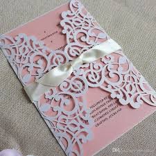 summer wedding invitations customize floral wedding invitations white laser cutting