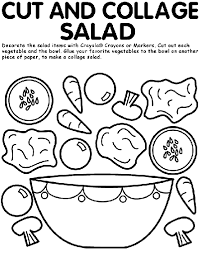 Cut And Collage Salad Coloring Page Crayola Com Cut Coloring Pages