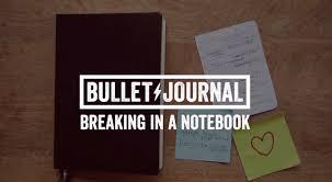 bullet journal breaking in a notebook youtube