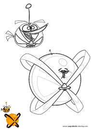 angry birds space coloring pages orange bird printable coloring