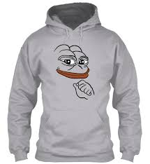 Hoodie Meme - smug pepe the frog meme gildan hoodie sweatshirt ebay