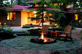 How Much Is A Flagstone Patio Flagstone Patio And Fire Pit Houzz
