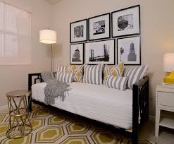 West Elm Day Bed Modern Guest Bedroom With Carpet Zillow Digs Zillow
